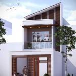 Thiết kế nhà phố 2,5 tầng phong cách hiện đại