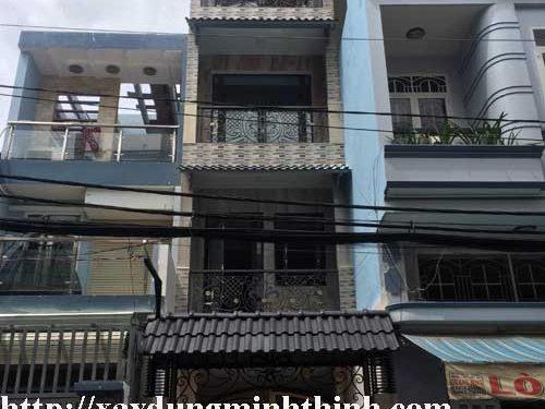 xây phố 4 tầng quận Tân Bình