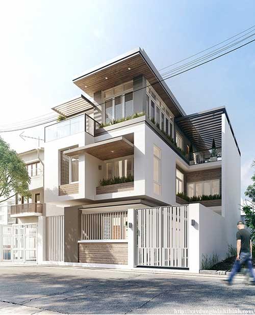thiết kế nhà phố 1 mặt tiền đẹp