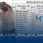 Phân tích đơn giá sửa nhà từ Minh Thịnh