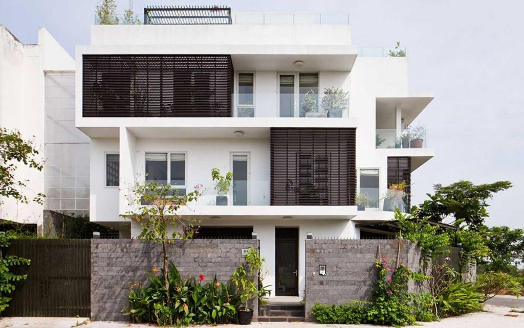 nhà 2 tầng đẹp có sân vườn đẹp lung linh