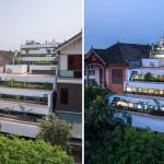 Vườn bậc thang trên mái nhà – Nhà không mái trồng rau xanh độc đáo