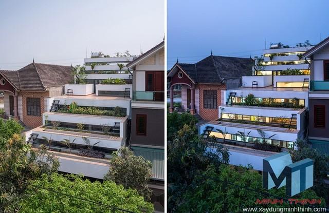 vườn bậc thang trên mái nhà độc đáo