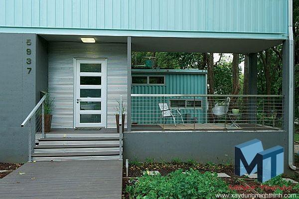 5 thùng container kết hợp thành căn nhà đẹp