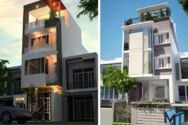 thiết kế nhà phố một mặt tiền