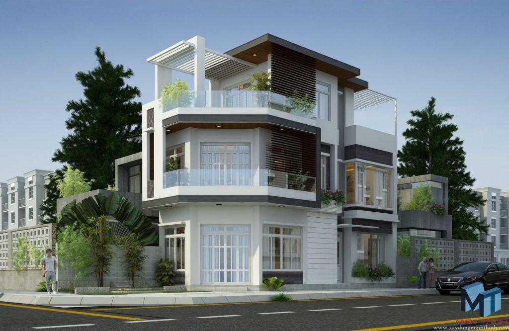 thiết kế nhà phố hai mặt tiền đẹp