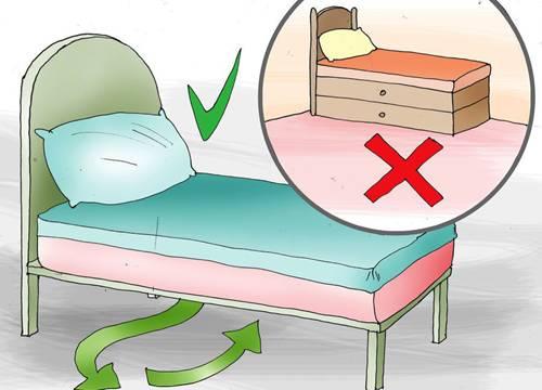 nên chọn giường có chân cao