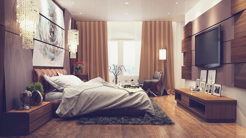 nội thất phong ngủ gỗ đá