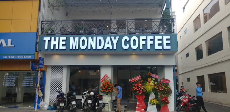 cải tạo quán cafe the monday coffee bởi minh thịnh phát
