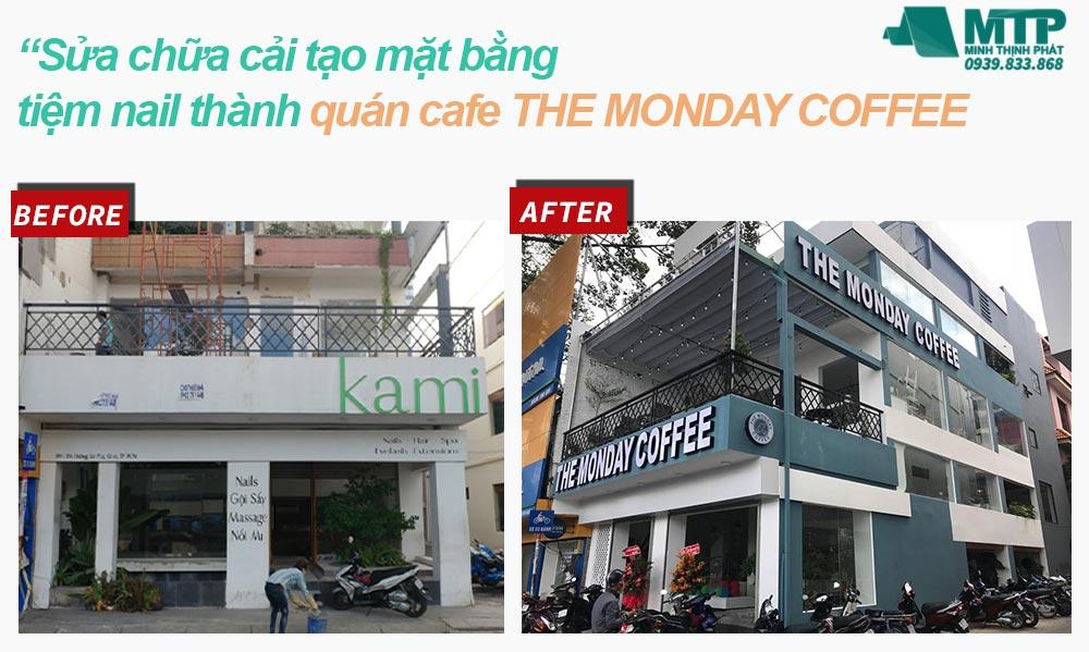 Sửa chữa cải tạo quán Monday Coffee
