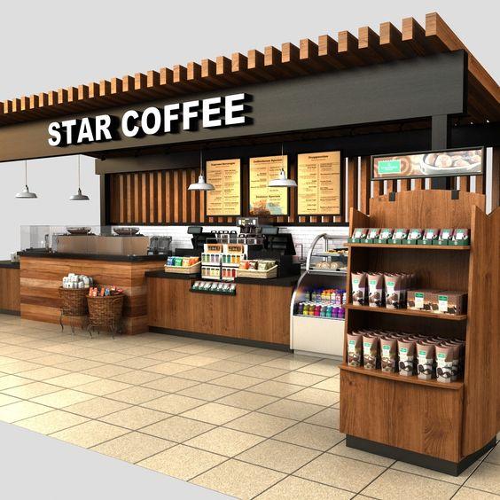 Quán cafe được thiêt kế dạng 3D