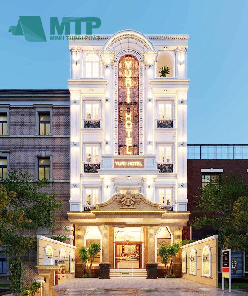 Thiết kế khách sạn 4 tầng đẹp lộng lẫy